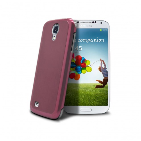 Acero Ultra-thin Pink Brushed Metal Case for Samsung Galaxy S4