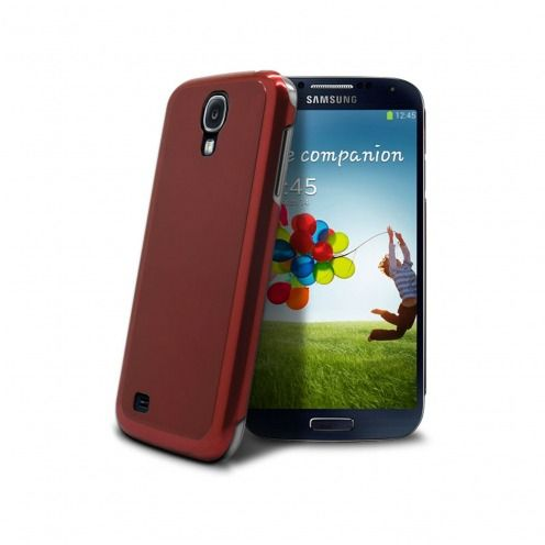 Acero Ultra-thin Red Brushed Metal Case for Samsung Galaxy S4