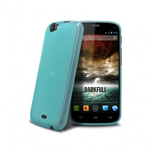 Coque Wiko DARKFULL Frozen Ice Extra Fine Bleue