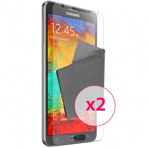 Films de protection anti traces de doigts Galaxy Note 3 Clubcase ® Lot de 2