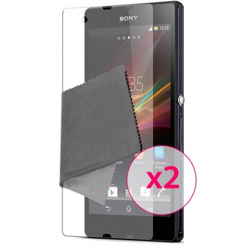 Films de protection Anti-Reflet Xperia Z Clubcase ® Lot de 2