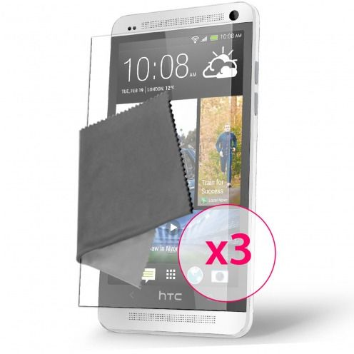Clubcase ® Anti-Glare HQ screen protector for HTC One Mini 3-Pack