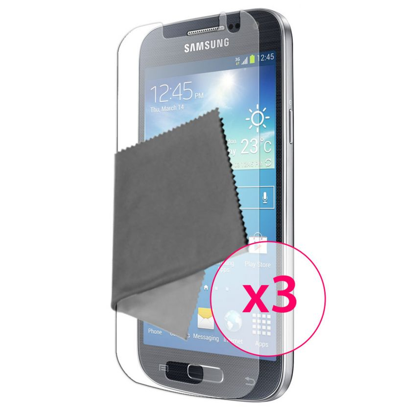 Zoom sur Films de protection Anti-Reflet Galaxy S4 Mini Clubcase ® Lot de 3