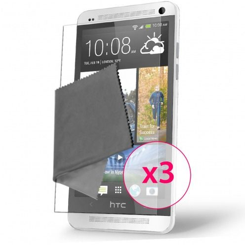 Pack of 3 Anti-Fingerprints Screen protector for HTC One Mini Clubcase ®