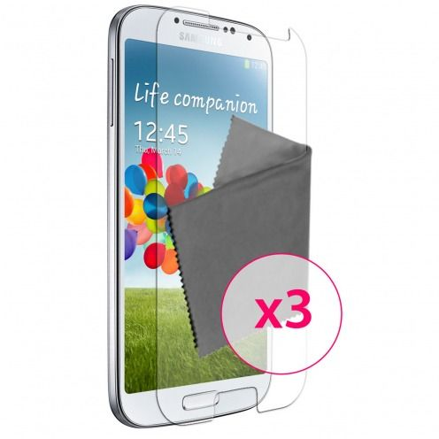 Pack of 3 Anti-Fingerprints Screen protector for Galaxy S4 Clubcase ®