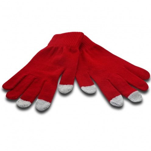 iTouch - Gants tactiles spécial iPhone Rouge Taille S