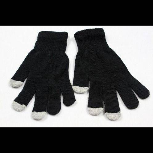 iTouch - Gants tactiles spécial iPhone Noir - Taille S