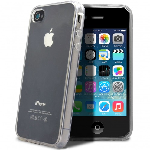 "Coque Souple ""Crystal Clear"" pour iPhone 4/4S"