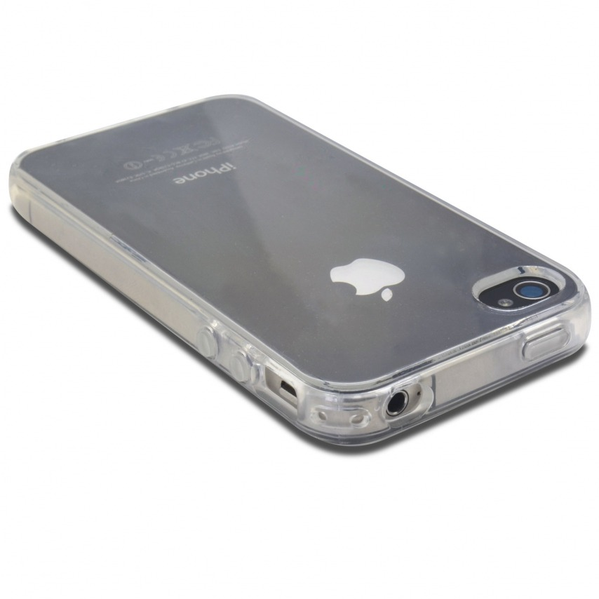 "Photo réelle de Coque Souple ""Crystal Clear"" pour iPhone 4/4S"