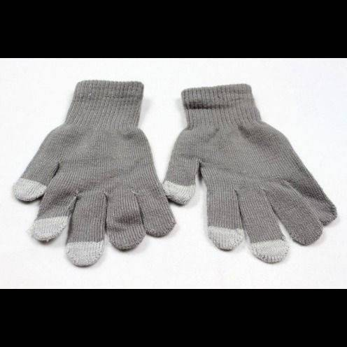 iTouch - Gants tactiles spécial iPhone Gris Taille S