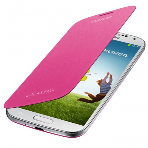 Samsung Galaxy S4 Flip Cover origine Rose