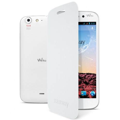 Wiko Stairway Folio Back Cover officielle Blanche