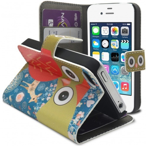 Smart Cover iPhone 4/4S à motif Hibou & Biche