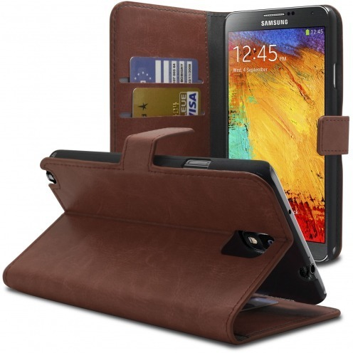 Smart Cover Samsung Galaxy Note 3 Cuirette Marbrée Havane