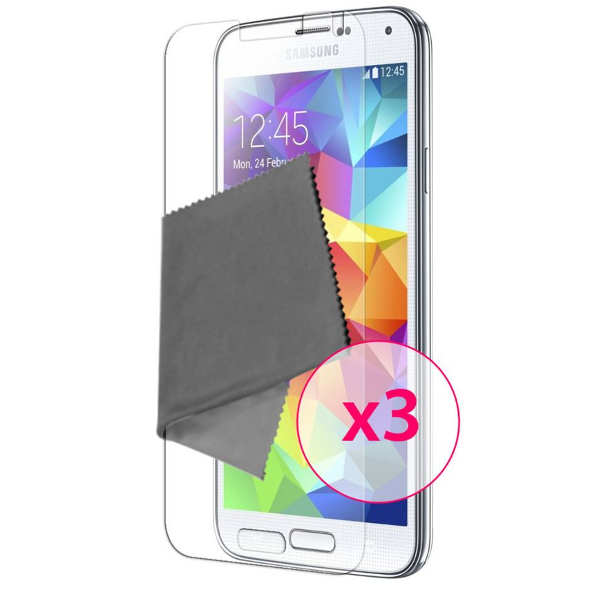 Zoom sur Films de protection Samsung Galaxy S5 Clubcase ® HD Lot de 3