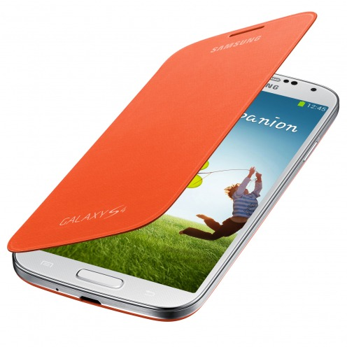 Samsung Galaxy S4 Flip Cover origine Orange
