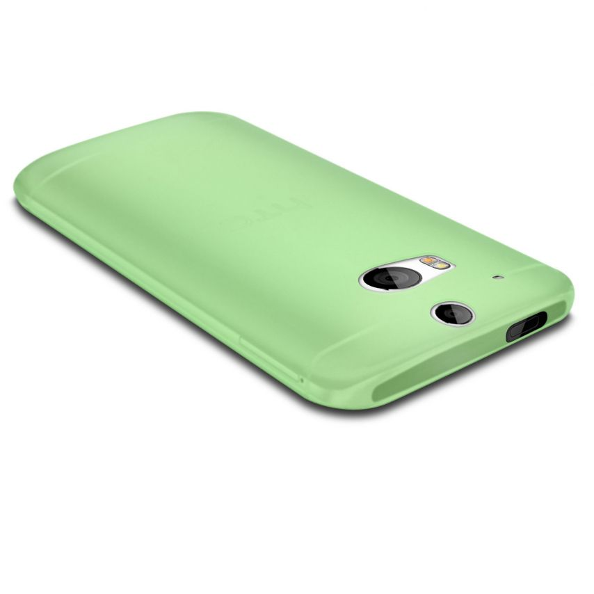 Photo réelle de Coque Ultra Fine 0.3mm Frost HTC One M8 Verte