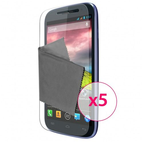 Clubcase ® Ultra Clear HQ screen protector for Wiko Cink Five 5-Pack