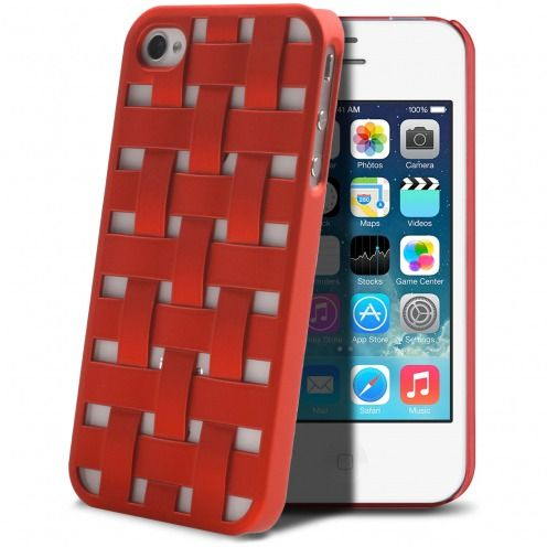 Coque iPhone 4/4S X-Doria Engage Form Tressé Rouge