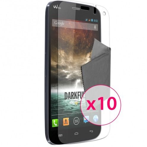 Films de protection Wiko Darkfull Clubcase ® Clear HD Lot de 10