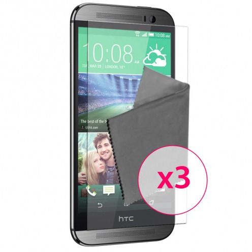 Films de protection anti traces de doigts HTC One M8 Clubcase ® Lot de 3