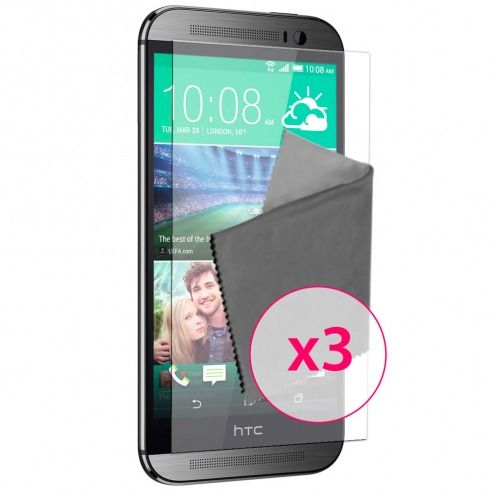 Films de protection Anti-Reflet HTC One M8 Clubcase ® Lot de 3