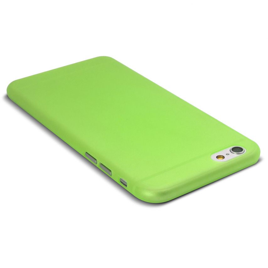 Photo réelle de Coque Ultra Fine 0.3mm Frost iPhone 6 Plus Verte