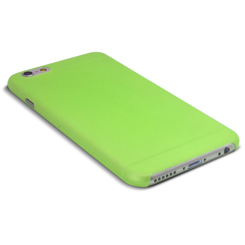 Vue portée de Coque Ultra Fine 0.3mm Frost iPhone 6 Plus Verte