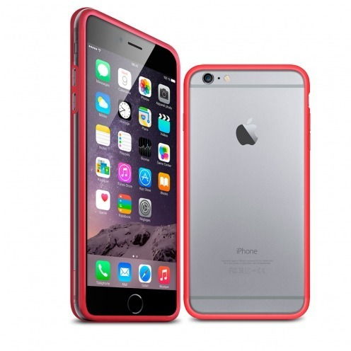 Coque Bumper iPhone 6 Plus HQ Rouge / Transparent