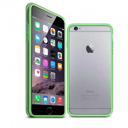 Coque Bumper iPhone 6 Plus HQ Vert / Transparent