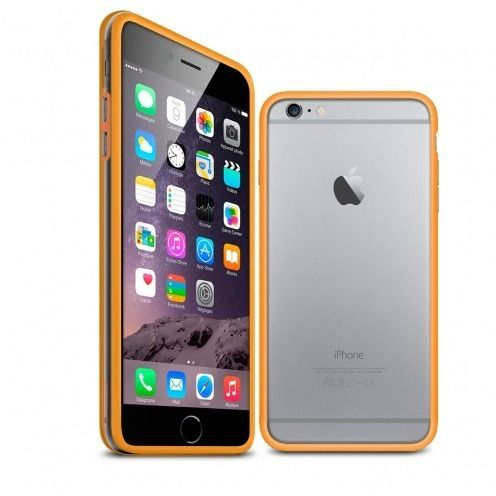 Coque Bumper iPhone 6 Plus HQ Orange / Transparent