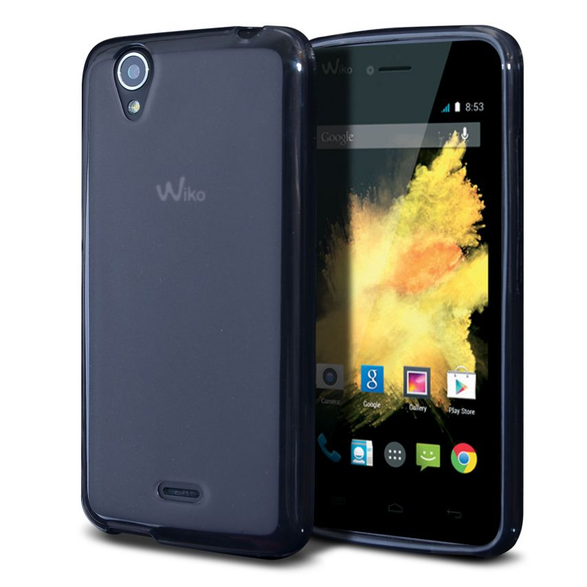 Frozen Ice Extra Slim soft Black case for Wiko Birdy