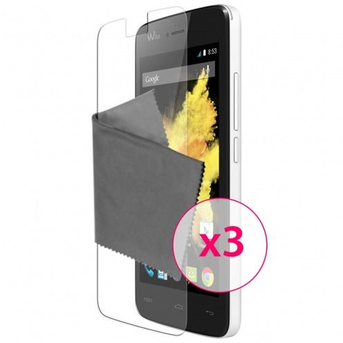 Clubcase ® Ultra Clear HD screen protector for Wiko Birdy 3-Pack