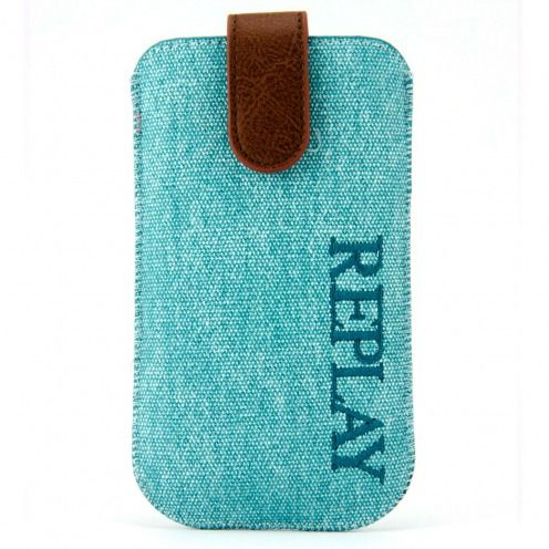 Etui Pouch iPhone 4/4S Replay® Aqua Denim Véritable Bleu