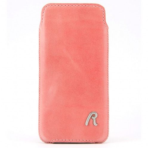 Etui Pouch iPhone 4/4S Replay® Vintage Cuir Véritable Rose