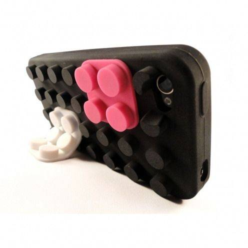 Coque Blocs Design Noire iPhone 4s / 4