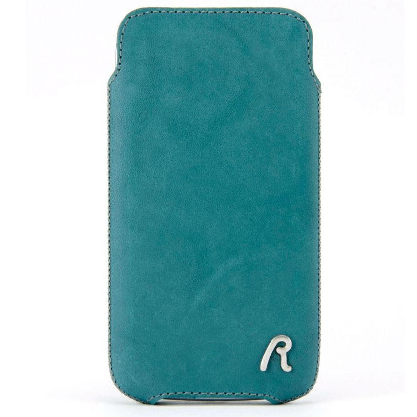 Replay® Genuine Leather Pouch Size 17 Aqua Blue