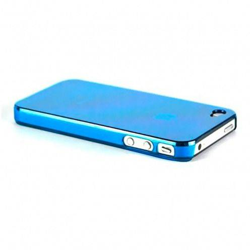 "Coque ""Crystal"" iPhone 4S / 4 Bleue"