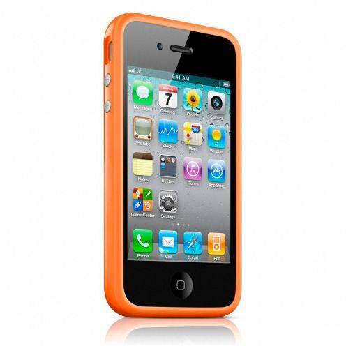 Coque Bumper HQ Orange Pour iPhone 4S / 4
