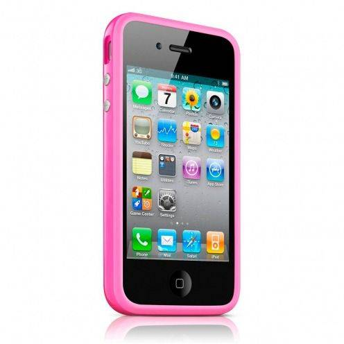 Coque Bumper HQ Rose Pour iPhone 4S / 4