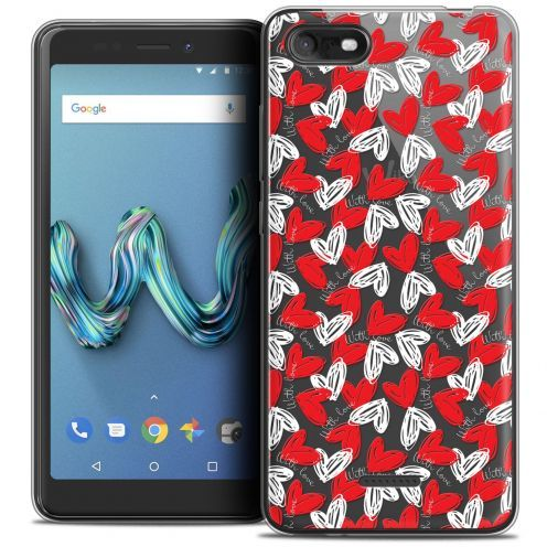 """Extra Slim Crystal Gel Wiko Tommy 3 (5.45"""") Case Love With Love"""
