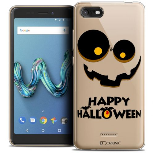 "Extra Slim Crystal Gel Wiko Tommy 3 (5.45"") Case Halloween Happy"