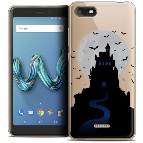 "Extra Slim Crystal Gel Wiko Tommy 3 (5.45"") Case Halloween Castle Nightmare"