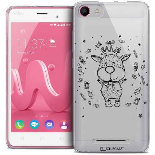 Coque Crystal Gel Wiko Jerry Extra Fine Noël 2016 - Sketchy Cerf