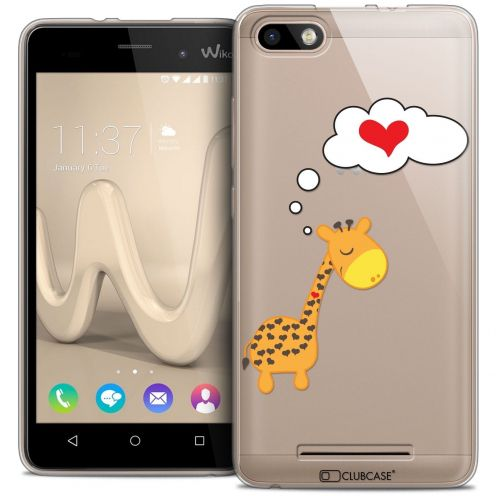 Coque Crystal Gel Wiko Lenny 3 Extra Fine Love - Girafe Amoureuse