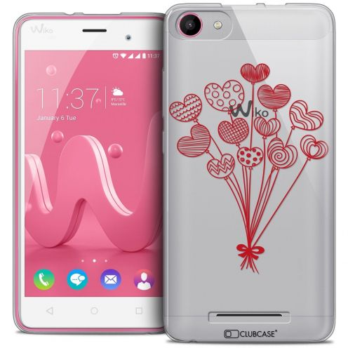 Coque Crystal Gel Wiko Jerry Extra Fine Love - Ballons d'amour