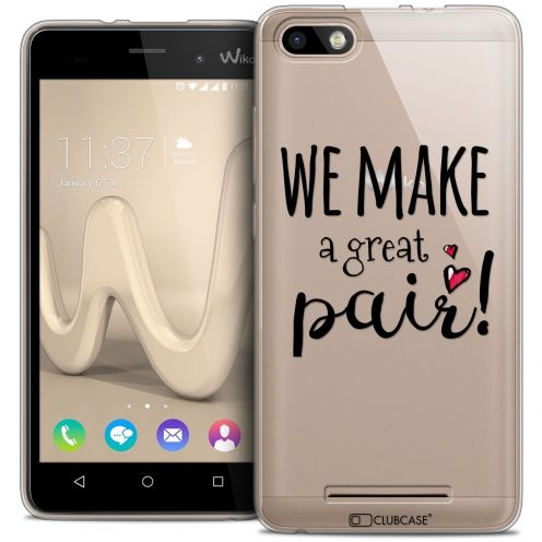 Coque Crystal Gel Wiko Lenny 3 Extra Fine Love - We Make Great Pair