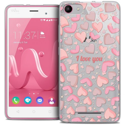 Coque Crystal Gel Wiko Jerry Extra Fine Love - I Love You