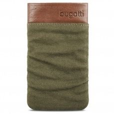Bugatti® Genuine Leather Pouch Elements Size M 73x125mm Army Green