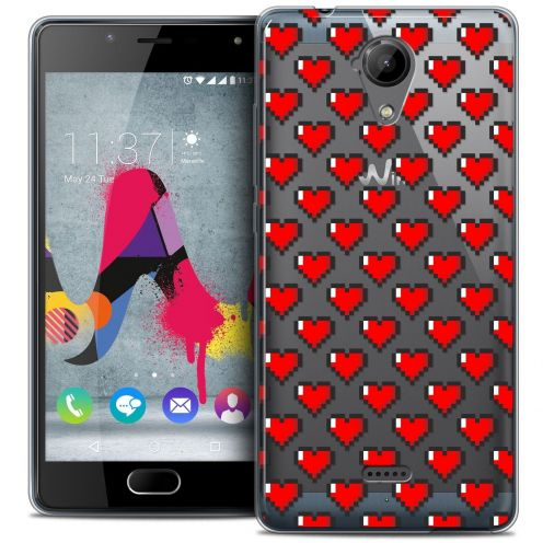 Coque Crystal Gel Wiko U Feel LITE Extra Fine Love - Pixel Art
